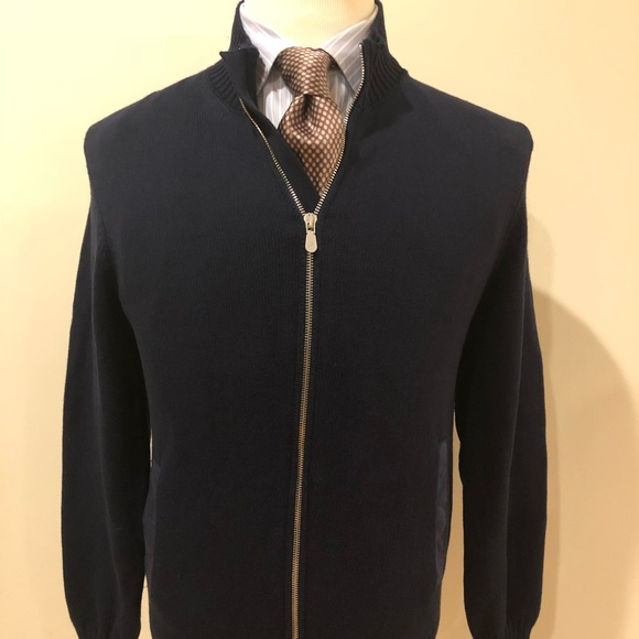 Brunello Cucinelli Other - Brunello Cucinelli Dark Blue Cardigan-Size 54-XL